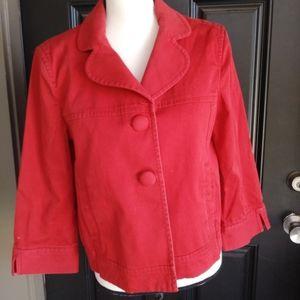 Ann Taylor medium Red Jacket